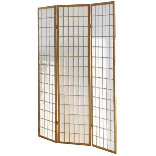 PEGANE Biombo japonés Shoji de Madera Natural de 3 Paneles