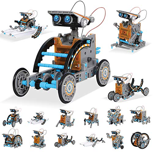 MAN NUO STEM Toy Solar Robot Kit 12-in-1 Learning Science Building Toys|Educational Science Kits Toys-Powered by Solar|STEM Toys Robot Science Kits for Kids 10+ 10-12 Year Old Boys Girls Gifts