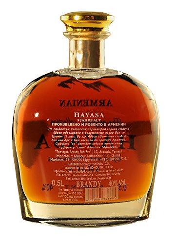 Armenischer Weinbrand Hayasa, 0,5L, 9 Jahre gereift - 3