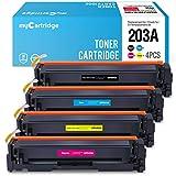 MyCartridge kompatibel HP 203A CF540A CF541A CF542A CF543A Toner für HP Color Laserjet Pro MFP M281fdw M281fdn M280nwHP Color Laserjet Pro M254nw M254dw (Schwarz/Cyan/Magenta/Gelb)