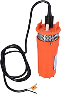 Stainless Shell Submersible Pump,12V Dc Solar Water Pump for Water Storage and Remote Water Use Operation Deep Well Pump for Farm Ranch Household (1/2Inch)