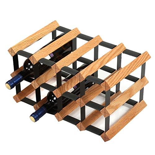 Kiter Wine rack Wine shelf Wine Rack Decoration Wine Bottle Restaurant Solid Wood Cabinet, Bar (Size : M)
