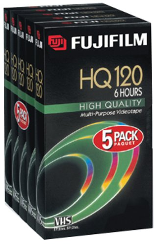 Best Review Of Fuji HQ T-120 Video Cassettes, 5 Pack (Discontinued by Manufacturer)