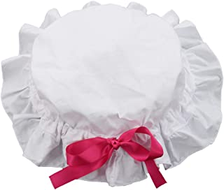 GRACEART Women's Deluxe Mob Cap Bonnet Colonial Costume Accessory 100% Cotton (4 styles option)