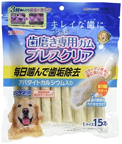 ゴン太 ゴン太の歯磨き専用ガム ブレスクリア アパタイトカルシウム入り L 15本
