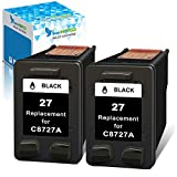 Get InkWorld Remanufactured for HP 27 Ink Cartridges Replacement for HP 27 Use for HP DeskJet 3520 3650 3845 3550 3420 3745 3847 OfficeJet 5610 4315 5600 PSC 1315 1310 2200 Printer (2 Black) Just for $15.99
