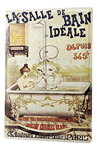 LEotiE SINCE 2004 Blechschild Wandschild 30x40 cm Vintage Retro Metallschild Fun Badezimmer