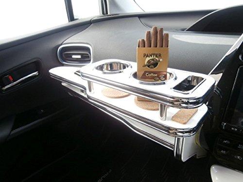 数量限定 50系プリウス フロントテーブル ホワイト 携帯ホルダー運転席側 ホワイトフルメッキ