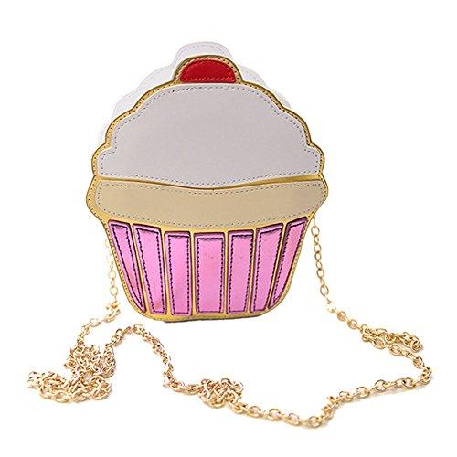 Rokoo Lustige Eiscreme-Kuchen-Tasche Kleine Crossbody Beutel für Frauen nette Geldbeutel -Handtaschen -Kette Messenger Bag Partei-Beutel