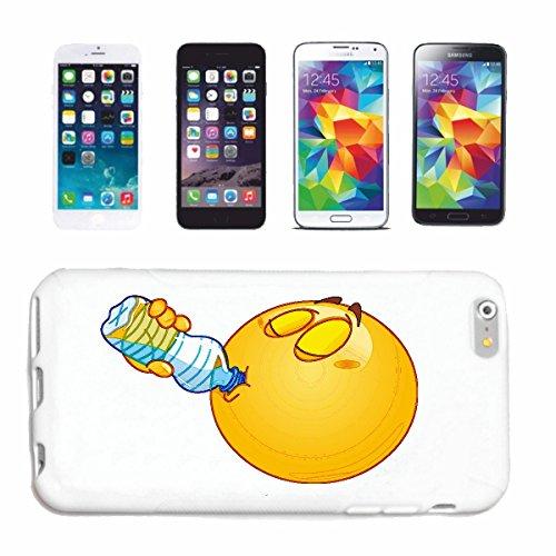 Reifen-Markt Hard Cover - Funda para teléfono móvil Compatible con Samsung Galaxy S7 Edge Smiley Bebiendo de una Botella de Agua Smiley Smilies Android Apple Iphon