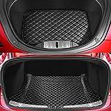 BMZX Tesla Model 3 Tapis de Coffre de Voiture Avant et arrière pour Tesla Model 3 Trunk Accessoires (Version Mise à Jour 2 pièces)