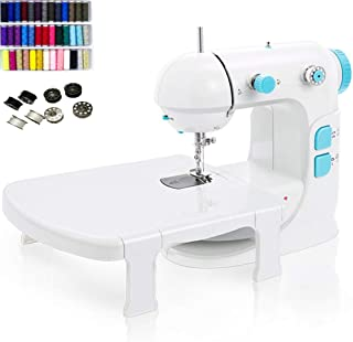 Electric Sewing Machine, Portable Crafting Mending Machine Overlocker Machine Small Household Sewing Tool, Two Speeds, wit...