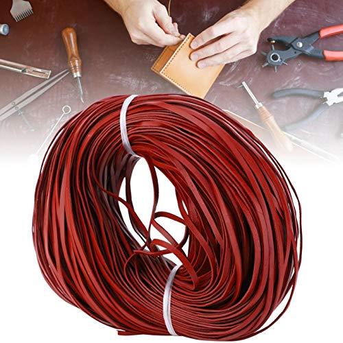 Multi-Color Opcional Cuero Plano 100 m de Largo Manual Cuerda de Bricolaje cordón de Cuero joyería Manualidades de Bricolaje Cuero Trenzado(Red Brown 3mm*1mm100m)