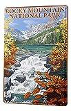 Blechschild Weltenbummler Rocky Mountain National Park
