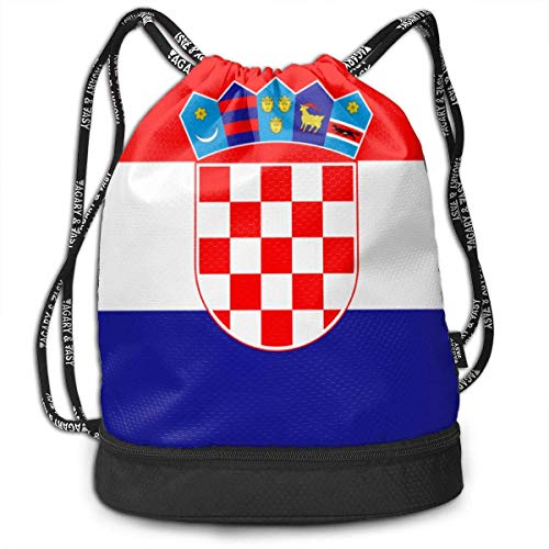 Traveling Swim Gym Beam Backpack Flag of Croatia Beam Backpack Basketball, Volleyball, Baseball Daypack for Boys Teens Youth Birthday Party