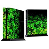 Skins Wrap for PS4 Sony Playstion Console - Protective Decal Overlay stickers skins cover - weed green bud marijuana leaves