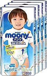 Moonyman Airfit Pants Diaper Boy, XL, 38 Count, (Pack of 4)