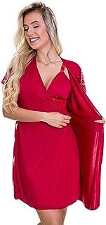 Robe Vermelho em Liganete e Renda - ES207