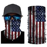 VCOROS 3D Bandana Face Mask Seamless Balaclava for Men Women Riding Motorcycle Fishing Hunting Multifunctional Face Cover (AC123 USA Flag)
