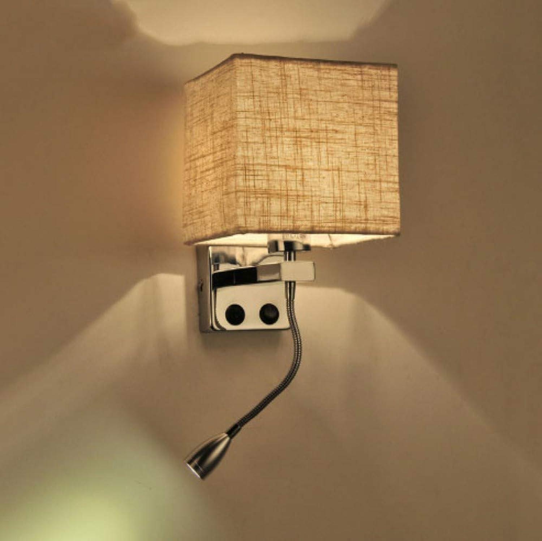 Xiadsk Modernes Gewebe führte Wandleuchte Licht Treppenhaus Hotel Flur Wohnzimmer Schlafzimmer Gang Nachttisch Schalter Beleuchtung Wandleuchte Stand