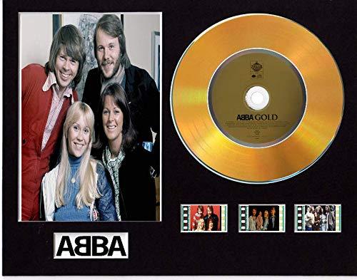 Abba - Pantalla de CD con efecto de vinilo (disco dorado o...