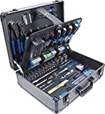 BGS 15501 | Werkzeugkoffer | 149-tlg. | Profi-Werkzeug | Alu-Koffer | gefüllt | abschließbar | Werkzeugkiste | Werkzeugbox
