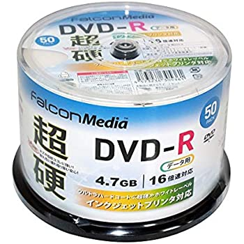 FalconMedia 1回記録(データ)用 ウルトラハードコート(超硬)DVD-R BE036 (片面1層/1-16倍速/50枚)