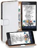 MoEx Funda Cartera [protección 360°] Compatible con Sony Xperia Z3 Compact | Cierre magnético, Blanc