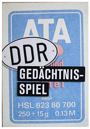 Inkognito Memory / Gedächtnisspiel 13 x 19 x 4 cm • 40089 ''Das DDR Gedächtnisspiel Memo ATA Künstler...