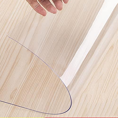 Mantel Transparente Mesa Rectangular 1,3 Mm Protector De Cubierta De Mesa Transparente Respetuoso del Medio Ambiente, Tapete De Mesa Impermeable Resistente Al Calor Exterior,Transparente,70 * 70cm