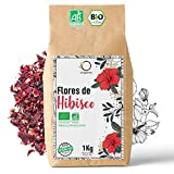 🌺 Flor de Jamaica BIO 1kg   Flor de Hibisco por Te Frio, Agua de Jamaica, Infusion   Te de...