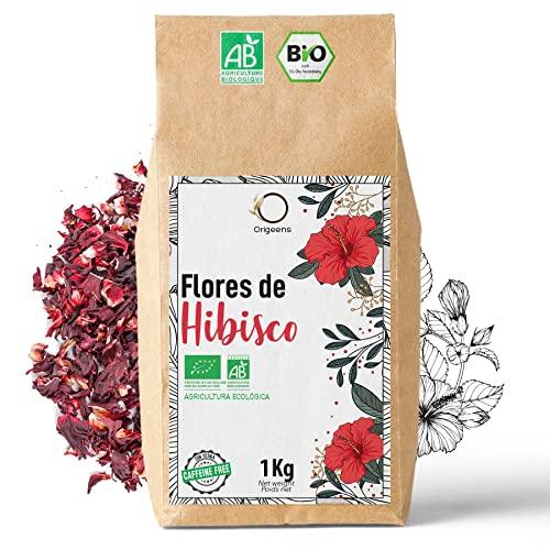 🌺 Flor de Jamaica BIO 1kg   Flor de Hibisco por Te Frio, Agua de Jamaica, Infusion   Te de Hibisco organico por Dieta Detox Drenante