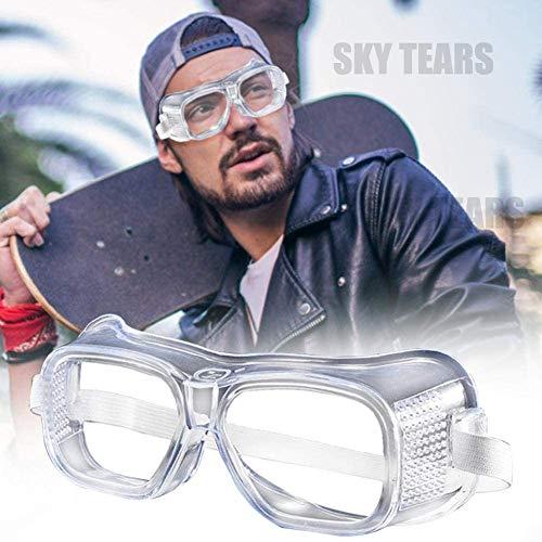 Schutzbrille Vollsichtbrille Einstellbare Überbrille Schleifbrille für Brillenträger (Weiß-2)