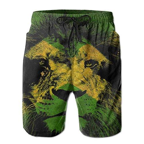 Lion of Jamaica Fashion Summer Casual Surf Beach Board Shorts Pants for Herren Boys