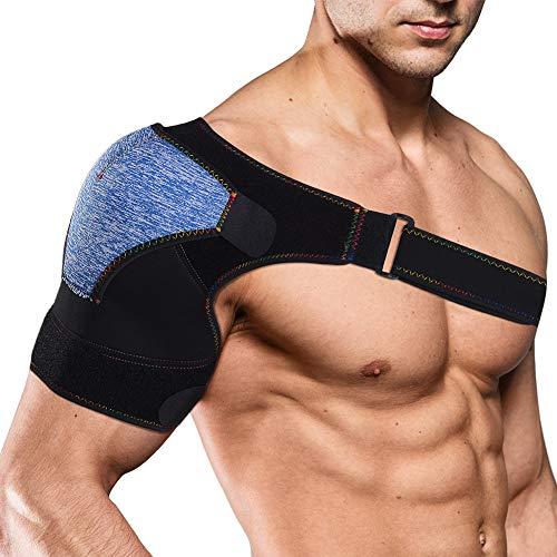 HXG Schulterbandage Verstellbare Schulter Unterstützung Bandage, Verletzungen,Schulterschmerzen, arthritische Schultern, Neopren Schulterwärmer, für Linke/Rechte Schulter, Männer/Frauen
