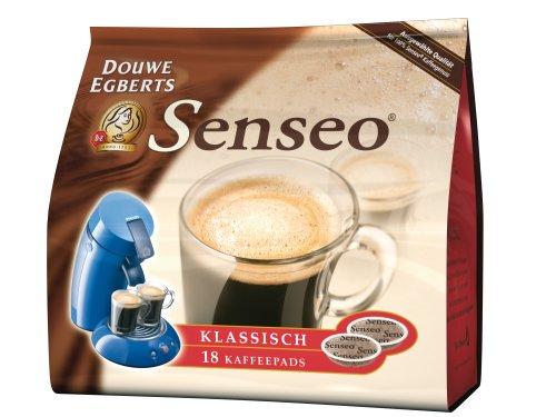 Kaffeepads Senseo, vollmundig, Classic, Inhalt 7g, Packungsmenge 16 Stück