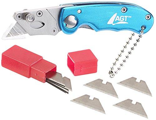 AGT Cutter: Profi-Mini-Cuttermesser mit Klappsystem inkl. 10 Ersatzklingen (Klapp Cuttermesser)