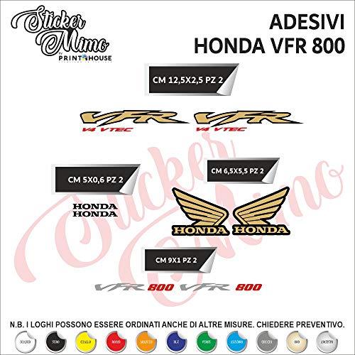 Sticker Mimo Juego de Adhesivos Honda VFR 800 Cortados Individualmente, Adhesivos compatibles con Kit de Pegatinas Personalizadas de Color