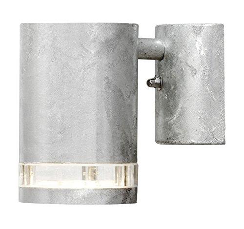 Gnosjö Konstsmide Modena wandlamp buitenlamp, staal, GU10, gegalvaniseerd grijs, 9 x 14,5 x 13,5 cm