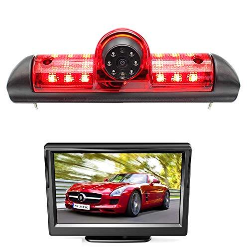 HD 720p Telecamera per la Retromarcia Retrocamera, telecamera posteriore impermeabile visione notturna con monitor da 5,0 pollici per Fiat Ducato, Citroen, relè Citroen Jumper Peugeot Boxer 06-19