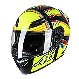GoolRC Casco de Motocicleta Casco Integral Rapid Street Unisex Adulto Equipo Cool Rider Casco de Bic...