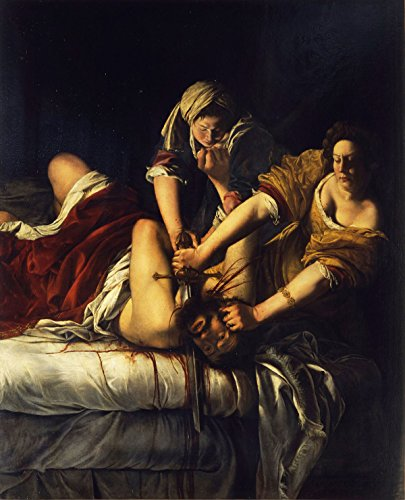 Artemisia Gentileschi - Judith Slaying Holofernes, Size 24x32 inch, Poster art print wall décor