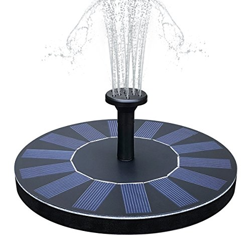 Yaogroo Solar Brunnen, solarbetriebene Wasserfontäne Pumpen Panel Kit Outdoor Tauchpumpe für Teich, Pool, Patio, Aquarium, Fish Tank