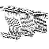 S Ganchos,60 Paquete Ganchos en Forma de S,para Colgar en Forma de S...