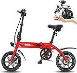 Bicicleta eléctrica Bicicleta eléctrica, bicicleta eléctrica plegable for adultos, conmuta E-bici con motor de 250W, Velocidad máxima 25 km / h, 3 modos de trabajo, delantero y trasero del freno de di