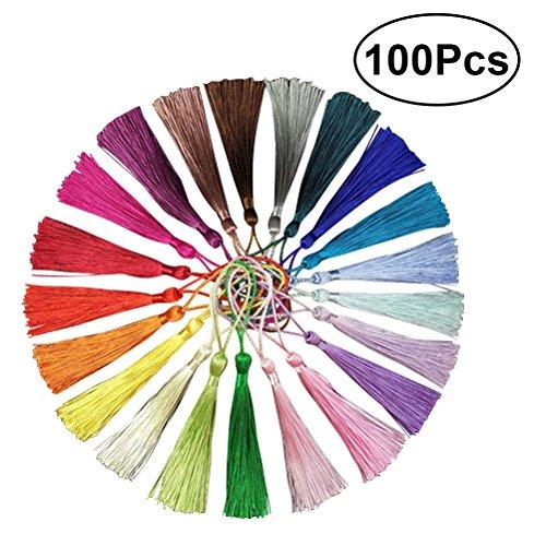 ROSENICE DIY China Nudo Borlas para La Joyería Pendiente de Recuerdo Favorito Regalo Tag Llavero Arte de DIY 13 cm / 5.1 Pulgadas (20 Colores Surtidos) 100 UNIDS