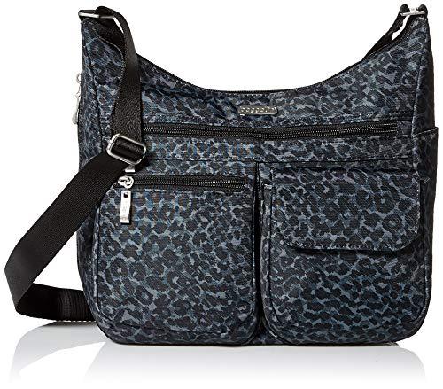 Baggallini Everywhere bagg with RFID, Charcoal Cheetah