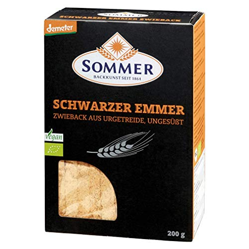 SOMMER CABLE Schwarzer Emmer Zwieback, 200 g