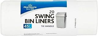 Morrisons Tie Handle Swing Bin Kitchen Waste Liners 45 Litre 20 pack