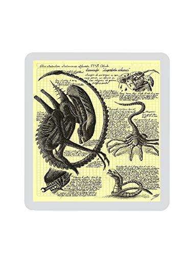 Alien Layout Xenomorph Mouse pad Handmade Horror Movie Geek